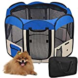 "48"" Blue Large 2-Door Waterproof 600D Oxford Cloth Pet Playpen Dog Puppy Tent Exercise Kennel"