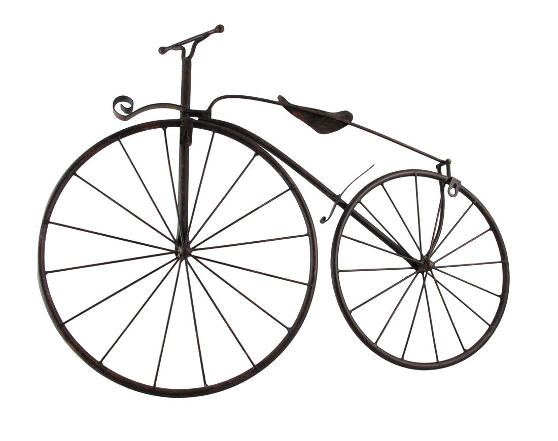 Cool Metal Vintage High Wheel Bicycle Wall Hanging