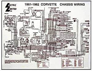 Amazon: 19611962 Corvette C1 Wiring Diagram 17X22