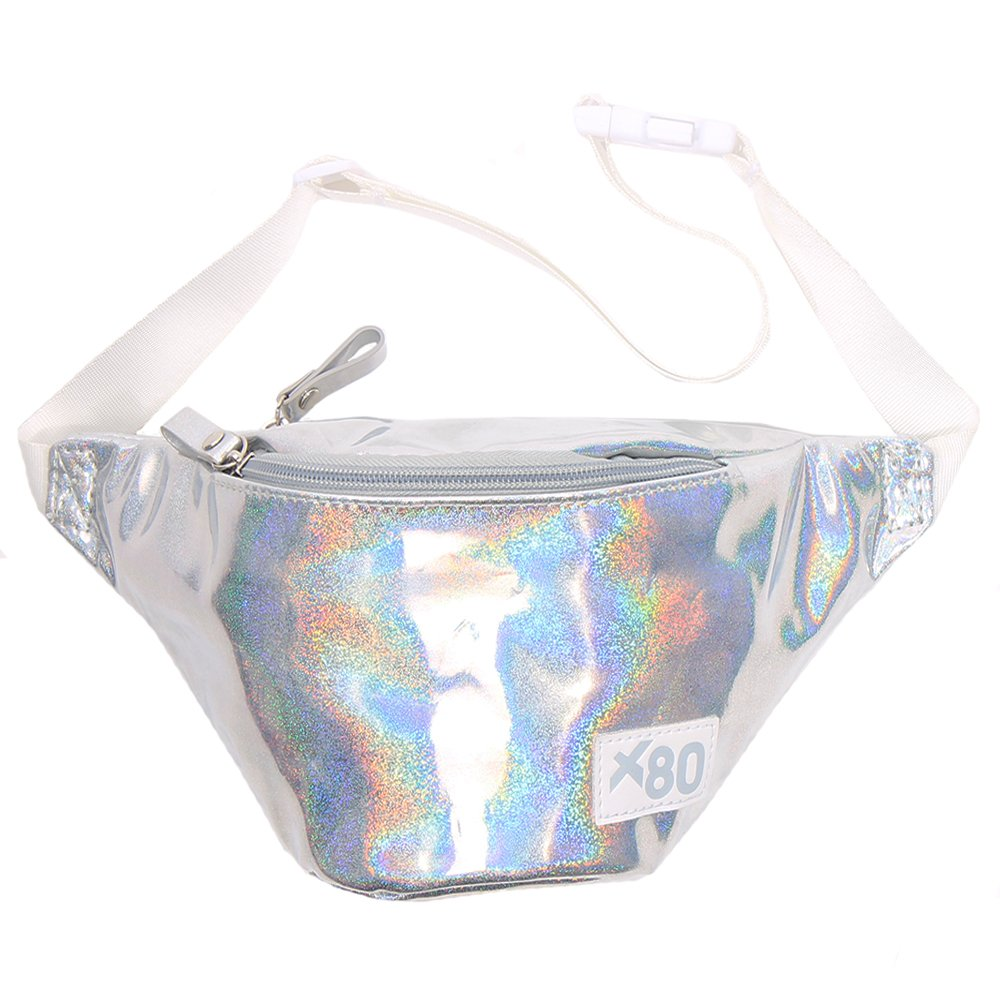 80s Silver Irridescent Fashion Fanny Pack