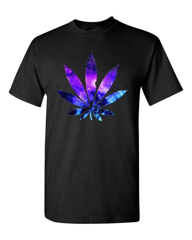 Marijuana Leaf GALAXY T-shirt