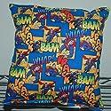 "Superman Pillow DC Comics Pillow Super-Man Pillow HANDMADE in USA BAM Pillow is approximately 10"" X 11"