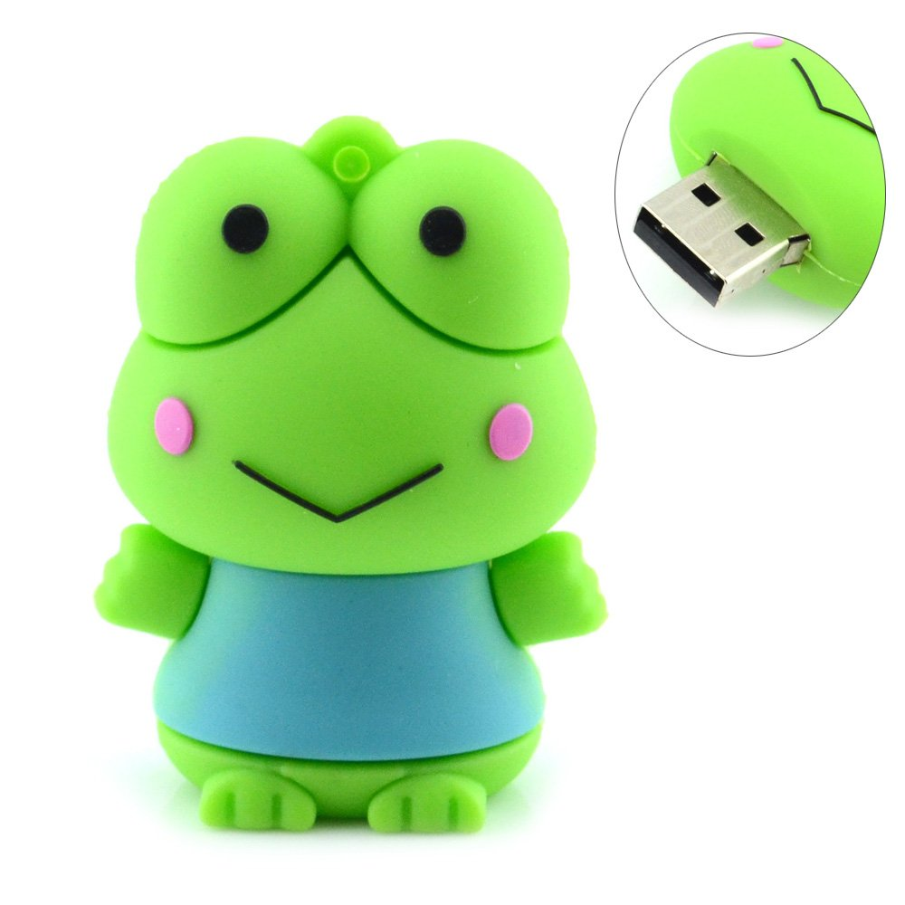 Frog Shaped 16GB USB Flash Drive (Green)
