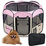 Yescom 2-Door Waterproof 600D Oxford Cloth Pet Playpen Dog Puppy Tent Exercise Kennel