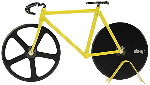 Roulette pizza en forme de vélo