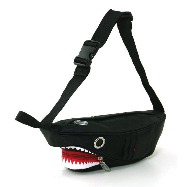 Cool Premium Nylon Shark Fanny Pack with Gill Pockets
