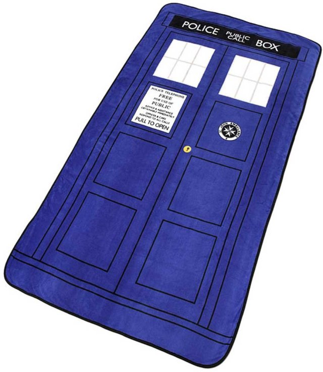 "Doctor Who TARDIS Throw Blanket 50"" x 60"""