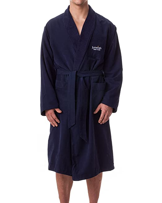 Jumeirah 5-Star Hotels and Resorts Bathrobe - Medium Blue - Short, Short, Blue