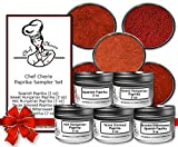 Chef Cherie's Paprika Sampler Gift Set-Contains 5 2 oz. Tins