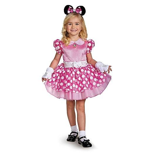 Disguise 67807K Pink Minnie Classic Tutu Costume, Medium (7-8)