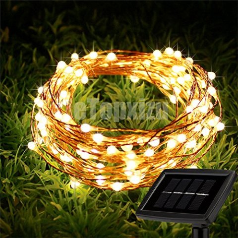 8-Modes-Outdoor-Solar-Copper-Wire-lights-Fairy-StringeTopxizu-66Ft-200LEDs-Outdoor-Decorative-Solar-Waterproof-LED-String-Lights-For-GardenPatioYardTreewedding-Christmas-strip-LightWarm-White