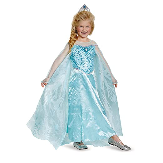 Disguise Elsa Prestige Child Costume, Small (4-6x)