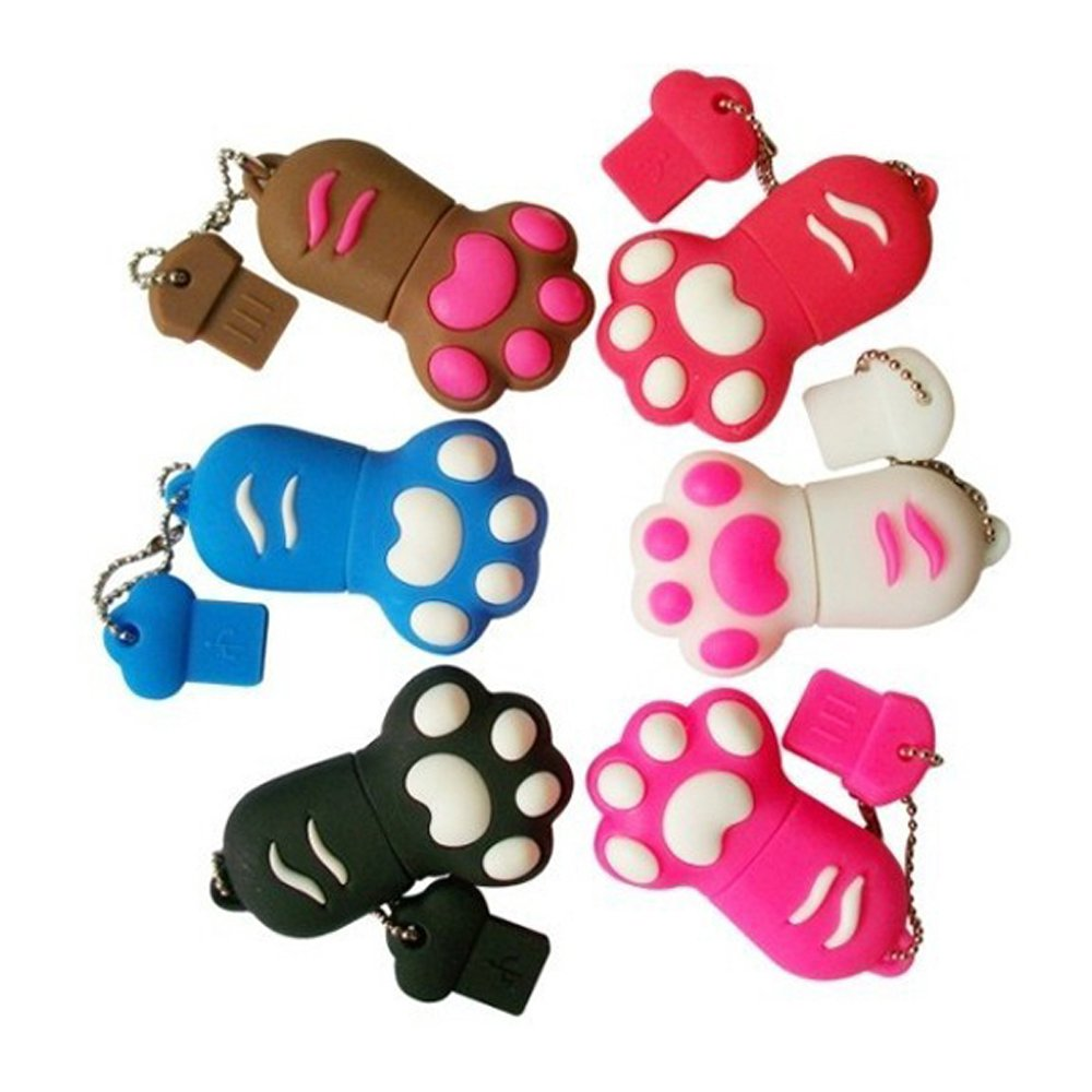 "Premium Black ""Paw"" USB Flash Memory Drive 8GB"