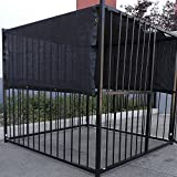6' X 10' Black UV Rated Dog Kennel Shade Cover W/Grommets