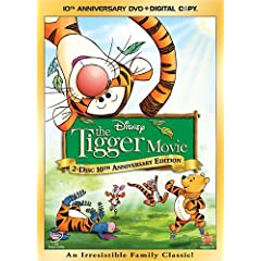 """ENTER TO WIN A DVD COPY OF """"THE TIGGER MOVIE: 10th ANNIVERSARY EDITION"""" 20"""