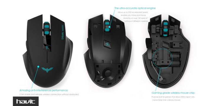 Recensione Gaming Mouse Wireless HAVIT HV-MS976GT Mouse Wireless HAVIT Gaming