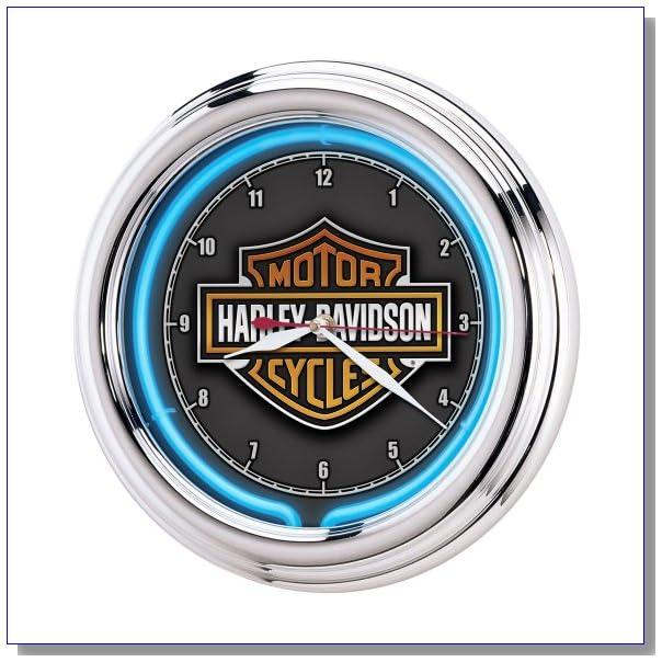 Harley-Davidson? Essential Bar & Shield Neon Clock