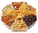 Hula Delights Deluxe Roasted Nuts Gift Basket 7-Section ★ Octagon Shaped Gift Tray ★ Delicious Roasted Salted Macadamia Nuts, Almonds, Pistachios, Cashews, Mixed Nuts, Raw Walnuts, and Honey Glazed Pecans ★ OK Kosher Certified ★ Holiday Gift Baskets for Men and Women of All Ages ★ Fantastic for Any Occasion ★ 100% Satisfaction Guaranteed