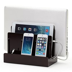 Great Useful Stuff High Gloss Cherry Multi-Device Charging Station and Dock