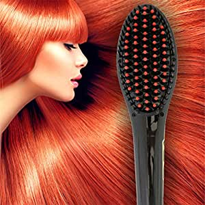 patented professional ionic best hair brush straightener for styling by azorro