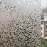 DuoFire 【目隠しシート】装飾再利用可能 無接着剤静電ペーストプライバシーガラスフィルム(窓 シャワー) 氷の花 (0.6M X 3M)