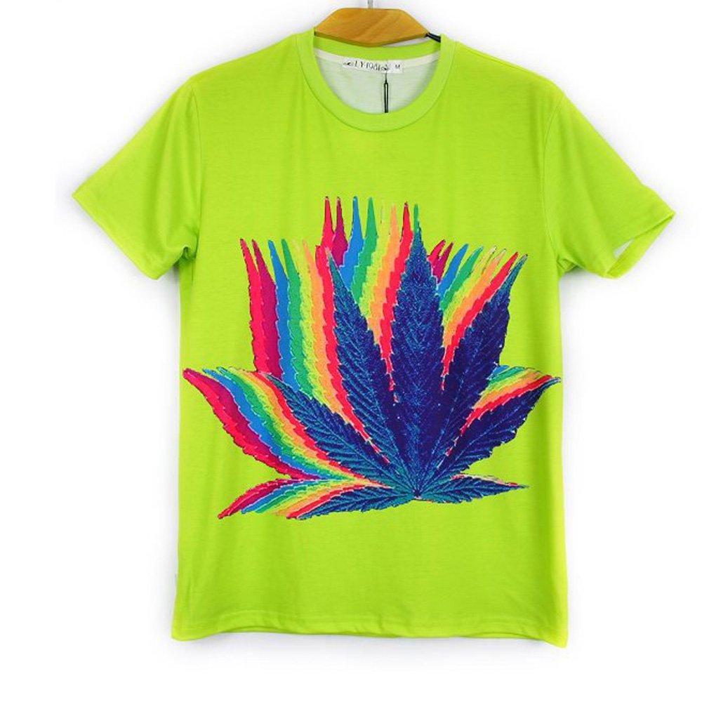 3D print men round neck short sleeve casual t-shirt