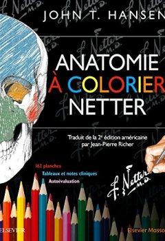 Livres Couvertures de Anatomie à colorier Netter