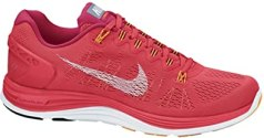 Nike Women's Lunarglide+ 5 Running Shoes-Laser Crimson-8.5