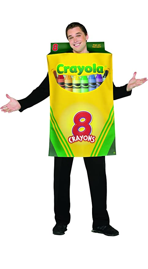 Rasta Imposta Crayola Crayon Box Costume, Yellow/Green, One Size