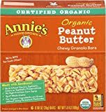 Annie's Organic Peanutty Granola Bars,  6 - .98-Ounce Bars, 5.9 Oz Boxes (Pack of 4)