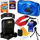 Nikon-COOLPIX-S33-Waterproof-Shockproof-132-MP-Digital-Camera-with-3x-Zoom-NIKKOR-Lens-and-Full-HD-1080p-Video-KIT