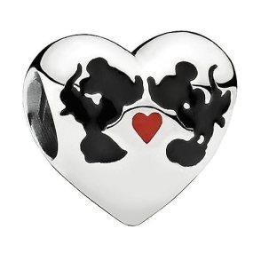 PANDORA Disney Charm Minnie and Mickey Kiss 791443ENMX