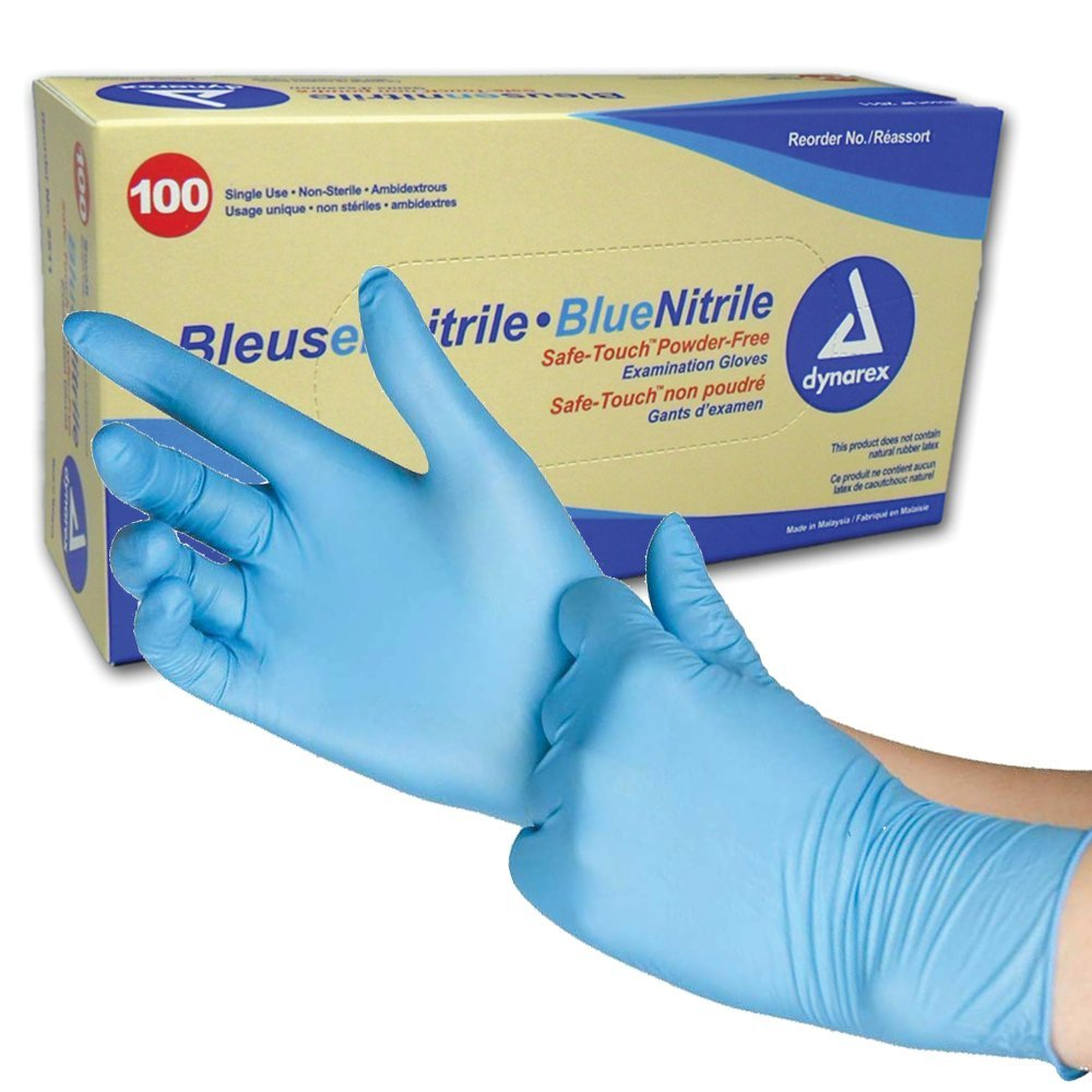 Nitrile exam gloves are perfect for keeping your hands clean, and keeping fingerprints off your gun.
