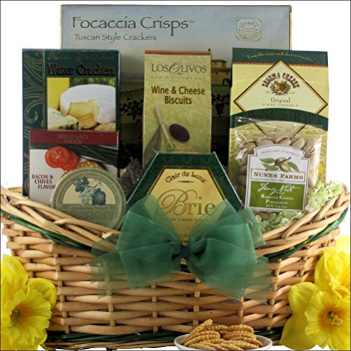 GreatArrivals Tempting Easter Cheese Delights Small Gourmet Cheese Gift Basket, 4 Pound