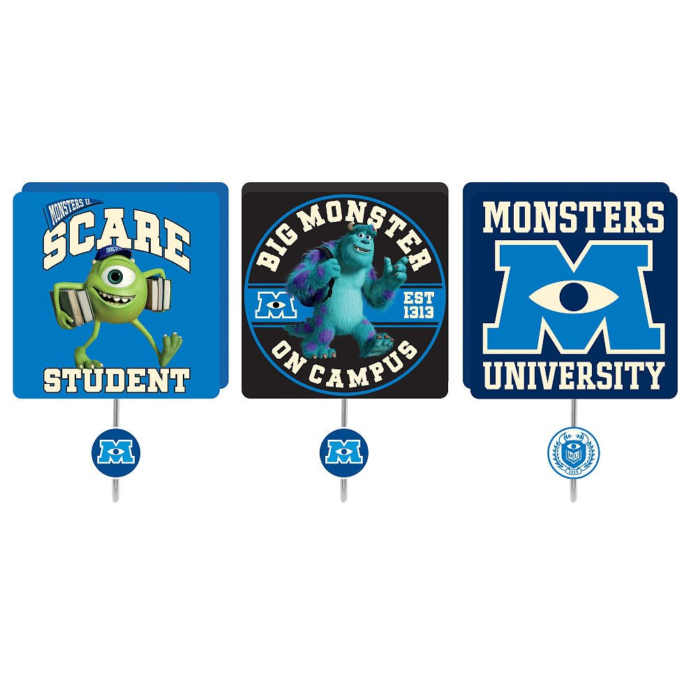 Monsters University 3-Pack Wall Hooks