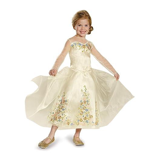 Disguise Cinderella Movie Wedding Dress Deluxe Costume, Large (10-12)