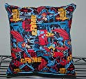 "Superman Pillow Flying Pillow Crime Stopper Super-Man Pillow Man of Steel HANDMADE in USA Pillow is approximately 10"" X 11"