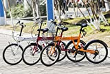 【SALE】Merax Folding Bike 20 Inch 6 Speed Fashionable Rear Suspension Shimano Shifter