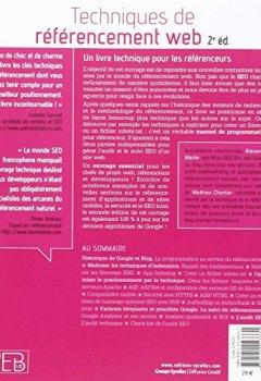 Livres Couvertures de Techniques de référencement web: Audit et suivi SEO.