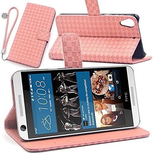 F.G.S ストラップ付き ピンク Desire 626 ケース HTC Desire 626 カバー Desire 626 手帳 カードホルダー/スダント機能付き F.G.S並行輸入品