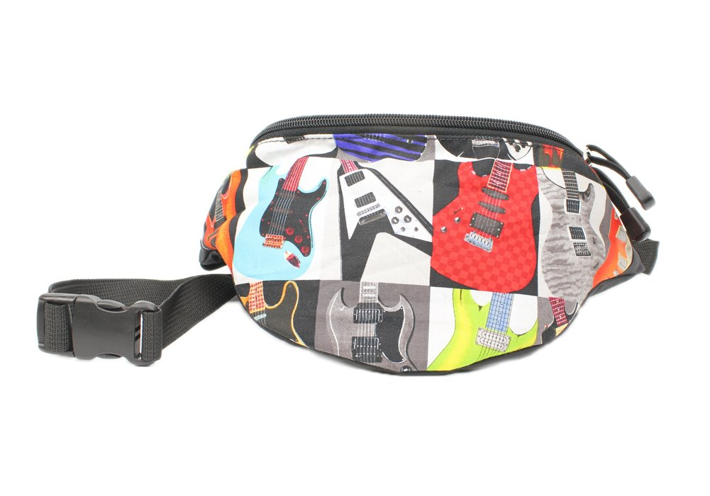 Chira Designs Electric Guitar fabric Fanny Pack - Waist Bag