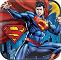 """Superman 9"""" Dinner Plates 8 Count"""