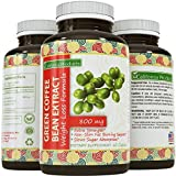 Natural Green Coffee Bean Extract Dietary Supplement -Burn Fat Curb Appetite Promote Weight Loss 800mg Capsules - Helps Boost Metabolism Burn Fat Promote Weight Loss - Antioxidant Rich Colon Cleanser