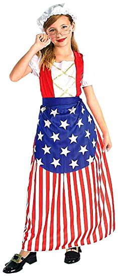Forum Novelties Patriotic Party Betsy Ross Costume, Child Large