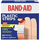 Band-Aid Brand Adhesive Bandages, Plastic Strips, Assorted, 60 Count