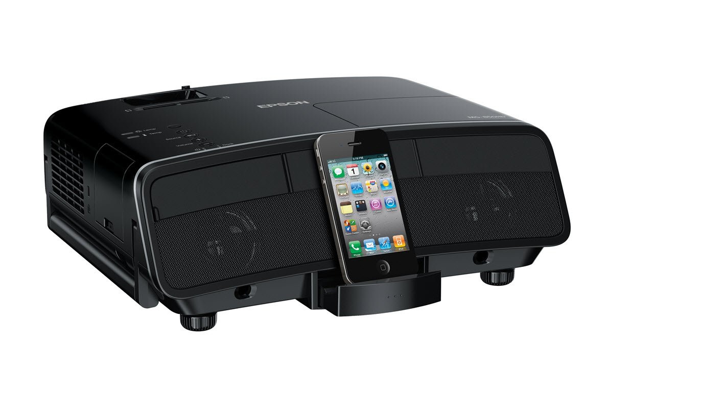 Epson MegaPlex MG-850HD 720p HD 3LCD Portable Digital Dock Projector and Speaker Combo for iPod, iPhone and iPad