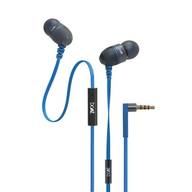 boAt BassHeads 225 Rock On 2 Special Edition In-Ear Headphones with Mic (Blue)