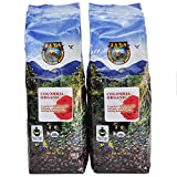 Java Planet - Colombian Organic Fair Trade Coffee Beans, Medium Dark Roast, Arabica Gourmet Specialty Grade A - 2 1lb bags