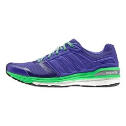 Women's adidas Supernova Sequence 8 Boost, Night Flash/Green, 11 B