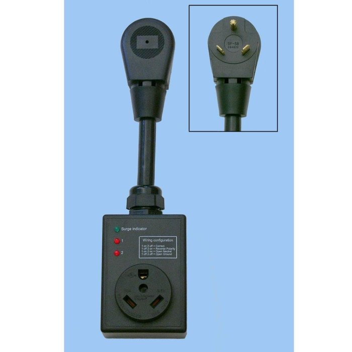 Amazon.com: Progressive Industries SSP30 Smart Surge Power is variable, and protecting our electronics is important to us. A good surge protector is pretty essential. Currently we have a 30a model, as that's what we're optimized for.